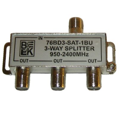 3-way High Output Satellite Splitter