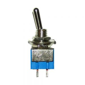 On/Off 2-Pin Mini Toggle Switch 125V/6A 250V/3A