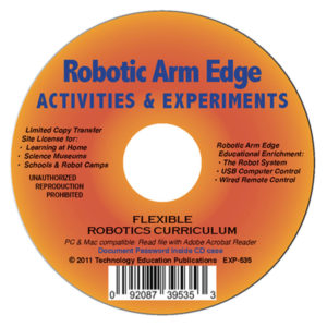 Robotic Arm Edge Activities and Experiments Curriculum
