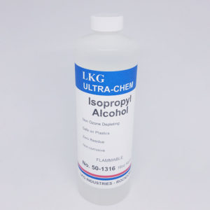 Isopropyl alcohol 16oz bottle for general cleaning and fiber finishing
