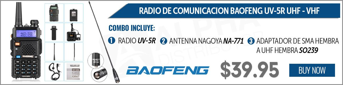 DUAL BAND (VHF/UHF) PORTABLE TWO-WAY RADIO W/ANTENNA AND ADAPTOR SMA TO UHF